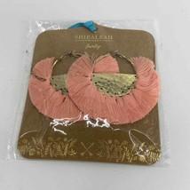Anthropologie Shiraleah Anya Plum Tassel Hoop Earrings New  - $30.00