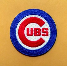 """CHICAGO CUBS  iron on embroidered embroidery patch baseball mlb 2.5 x 2.5"""" logo - $10.95"""