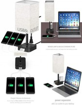 COZOO USB Bedside Table & Desk Lamp with 3 Charging Ports and 2 Outlets...  - $60.05