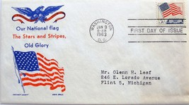 January 9, 1963 First Day of Issue Cover, Flag and White House #2 - $2.80