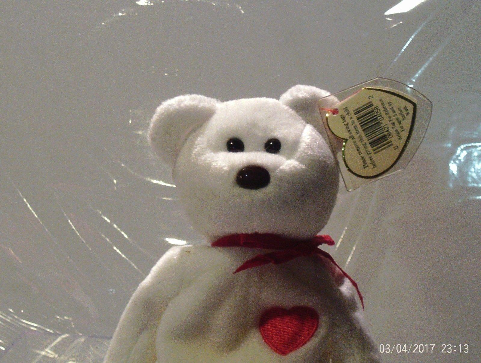 Ty Beanie Babies Valentino the White bear
