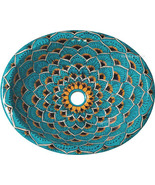 """Mexican Oval Bathroom Sink """"Turquoise Peacock"""" - $185.00"""