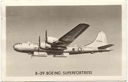 Primary image for B 29 Boeing Superfortress vintage 1945 Post Card