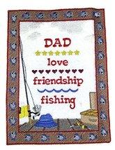 Let's Go Fishing Custom And Unique[Love Friendship Fishing Sampler ] Emb... - $14.84