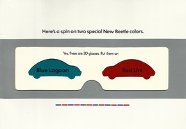 2003 Volkswagen NEW BEETLE Special Editions RED UNI BLUE LAGOON brochure... - $9.00