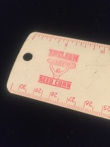 "Vintage 50s aluminum 12"" rulers - promo / giveaway (Gambles and Trojan Seed Co) image 4"