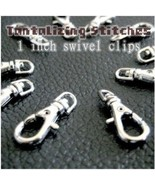 100 Silver 1 INCH EXTRA LARGE Lobster Swivel Clasps - $26.40