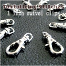 5 Silver 1 INCH EXTRA LARGE Lobster Swivel Clasps - $3.30
