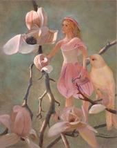 8x10 New Art Print Magnolia Fairy Faeries Bird FREE SHIP Nancy Lee Moran - $45.00