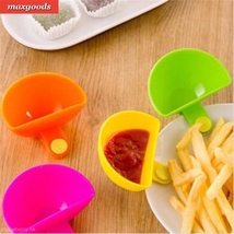Dip Clip Cup Bowl Saucer Tableware Kitchen Tool - £2.26 GBP