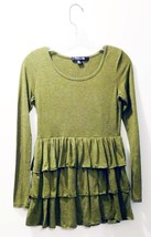 Forever 21 Olive Ruffled Blouse/Top - Ladies Size M - Made in the USA! - Cute!! - $12.73