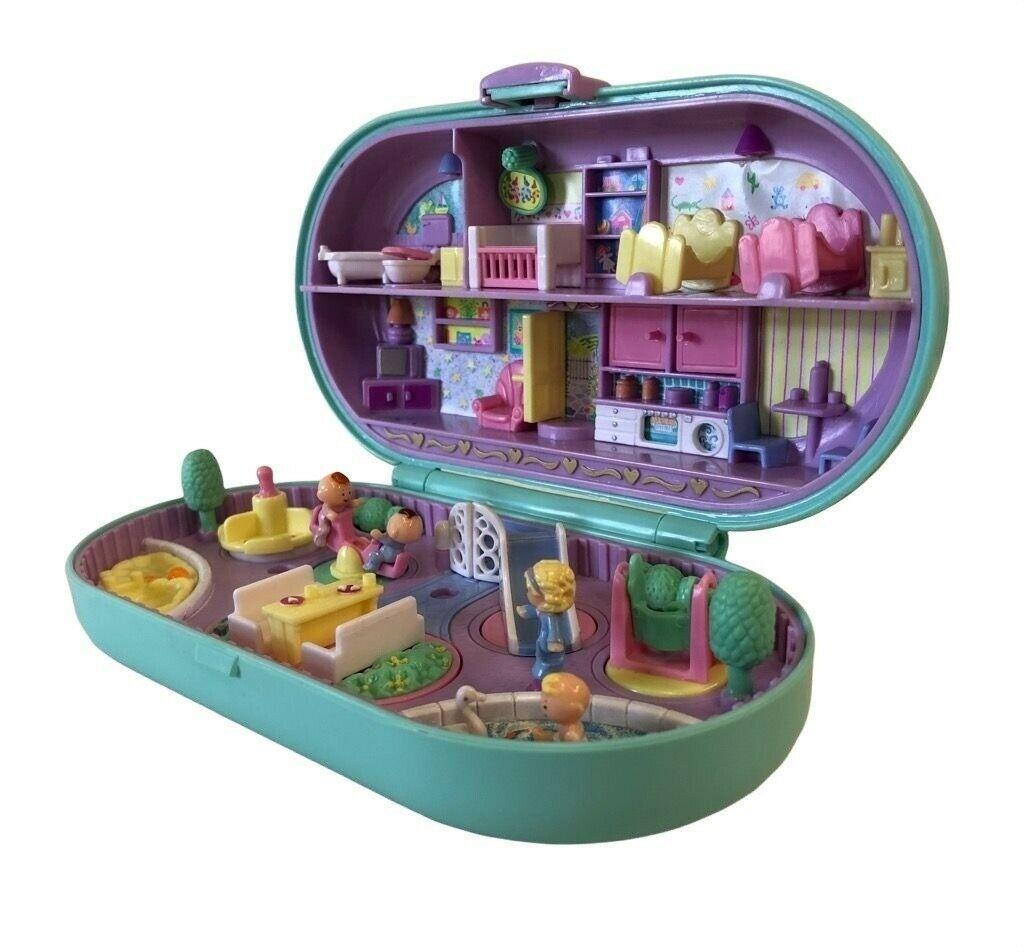 Polly Pocket Nursery Stampin Playground Stamper Set Teal Bluebird 1992 - $94.05
