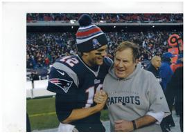 Tom Brady Bill Belichick Patriots Vintage 8X10 Matted Color Football Photo - $7.95