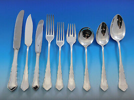 Chippendale by WMF 800 Silver Flatware Service for 6 Dinner Set 50 Pcs G... - $4,500.00