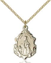 Women's Bliss Gold Filled St. Dymphna Medal Pendant Necklace 0822DYGF/18GF - $94.00
