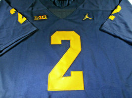 CHARLES WOODSON / AUTOGRAPHED MICHIGAN WOLVERINES BIG TEN PRO STYLE JERSEY / COA image 2