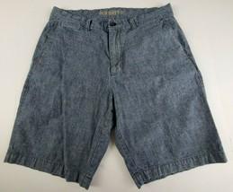 Old Navy Womens Jean Shorts Sz 32 Casual Cotton Medium Wash Denim Flat Front ** - $17.42