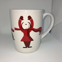 Starbucks Cup Coffee Mug White Red Winter People Scarves 2012 - $8.81