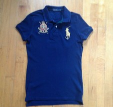 Ralph Lauren The Skinny Polo Navy Blue Short Sleeve Rugby Size Medium - $29.69