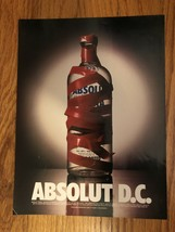 Absolut D.C. Red Tape Original Magazine Ad - $4.99