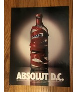 Absolut D.C. Red Tape Original Magazine Ad - $4.99