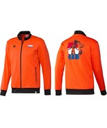 Adidas Holland Lion Graphic Track Top Jacket Football Soccer ORANGE G77802 - $27.99