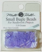 135 Mill Hill Glass Beads Small Bugle (11/0) 6mm long #72009 Ice Lilac 3... - $1.61