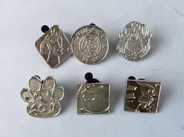 Walt Disney Trading Pins Character Collectible Lot of 6 Silver Hidden Mi... - $1.85