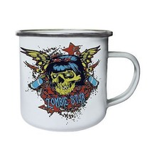 Zombie Star Beautiful Skull New Retro,Tin, Enamel 10oz Mug z173e - $13.13