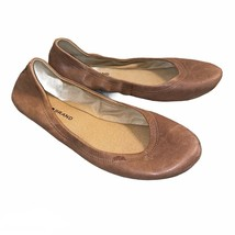 Lucky Brand Emmie Tan Leather Slip On Ballet Flats Shoes Career, Women's... - $24.99