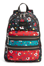 NWT Marc Jacobs Floral Biker Backpack Zip Nylon BLACK Multicolor $270 AU... - $198.00