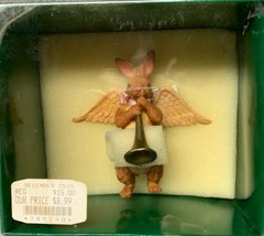 "Vintage Kurt S. Adler 4"" Angel Rabbit Playing A Trumpet Christmas Ornament ""Joy"" - $15.83"