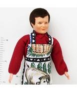 Dressed Caco Man 0209 BBQ Aparon Maroon Shirt Flexible Dollhouse Miniature - $37.34