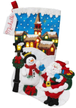 Bucilla 'Christmas Village' LED Christmas Felt Stocking Stitchery Kit, 8... - $29.99