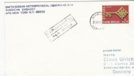 AMERICAN EMBASSY SMITHSONIAN ASTROPHYSICAL OBSERVATORY GREECE 1968  - $1.98