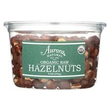 Aurora Natural Products - Organic Raw Hazelnuts - Case of 12 - 9 oz. - $91.80