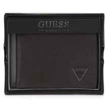 Guess by Marciano Men's Leather Credit Card Wallet Passcase Billfold 31GO22X002