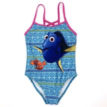 Disney Finding Dory Swimsuit Girls 5/6 Blue Pink One Piece - $9.50