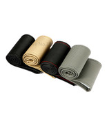 Anti-slip Breathable Faux Leather DIY Car Steering Wheel Cover w/ Needle... - $21.95