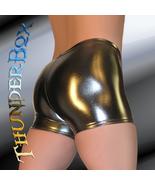 Thunderbox Chrome Metal Gunmetal Gladiator Shorts  Dancers Costume Theat... - $25.00