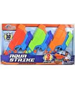 Tidal Storm Aqua Strike Power Pump Water Blasters 3 Pack Super Set Ages 6+ - $29.69