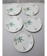 "5 Vintage Noritake CANTON DINNER PLATE 10 3/8"" China #5027  Bamboo EUC - $50.00"
