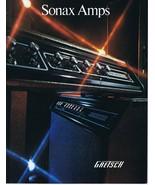 ORIGINAL Vintage 1972 Gretsch Sonax Amps Catalog - $39.59