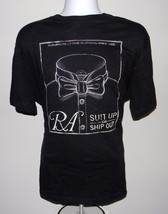 New Mens Gap Ra Suit Up Or Ship Out T Shirt Large Black White Chalk Outline - $21.73