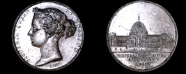 1862 HANOVER Victoria Silvered WM Medal 50MM Crystal Palace Universal Ex... - $124.99