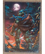 Teenage Mutant Ninja Turtles Leonardo Glossy Print 11x17 In Hard Plastic... - $24.99