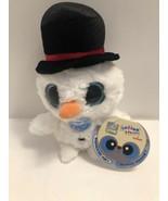 "Aurora Christmas Snowman Plush 5"" Yoo Hoo Plays jingle bell Music A23 - $10.95"