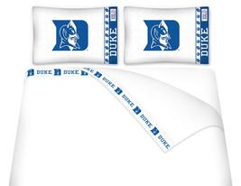 Microfiber Sheet Set NCAA Duke Blue Devils Bedroom Sheets TWIN FULL QUEE... - $66.49+