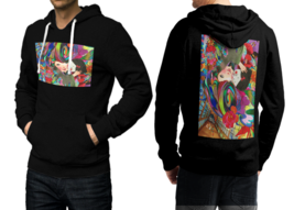Mushroom DMT  Black Cotton Hoodie For Men - $39.99