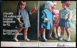 Toy Doll Janie Walker 1965 Grants Toy Doll 2 page Magazine AD - $18.99
